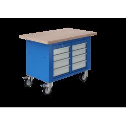 Établis mobile à tiroirs